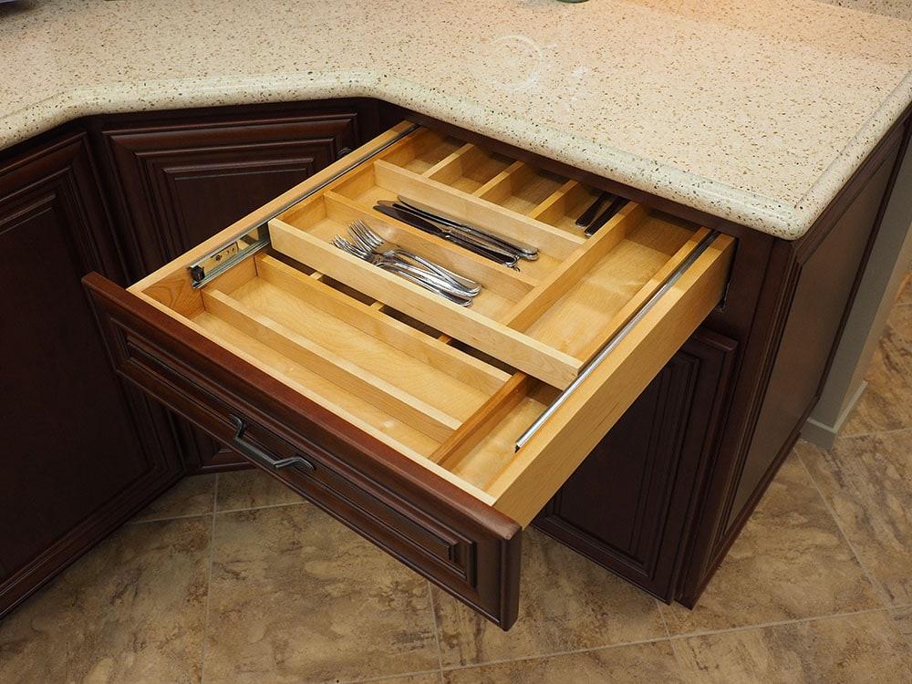 custom drawer in thomas home center showroom
