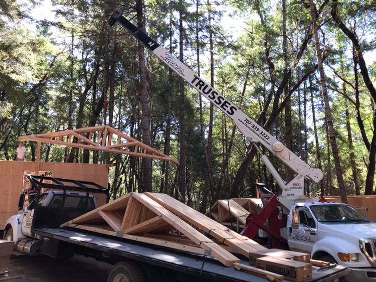 trusses with crane