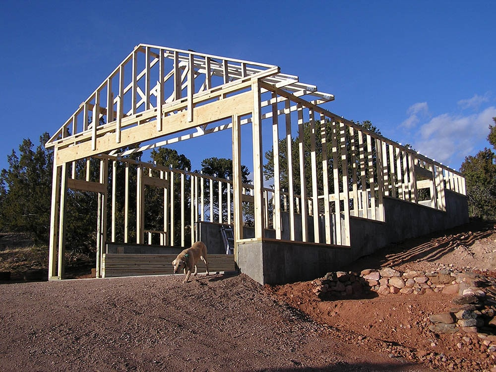 trusses on a new home